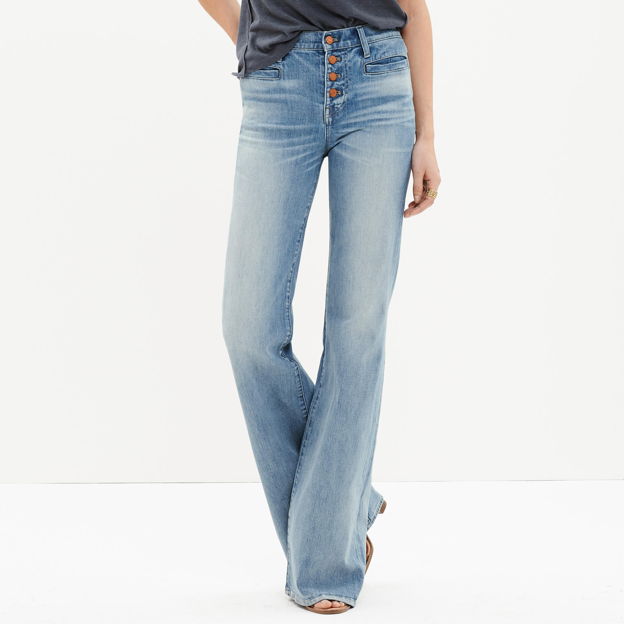 Flea market flares: button-front edition, Madewell, $135
