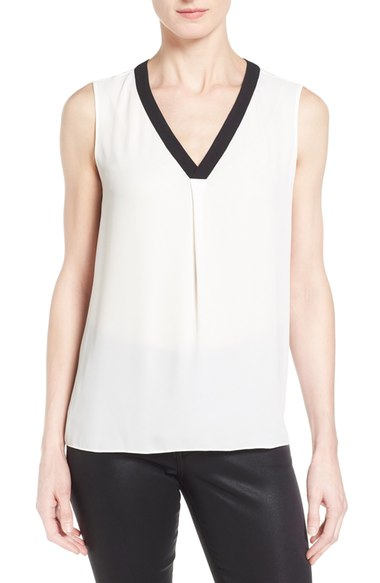 T Tahari 'Julie' V-Neck Sleeveless Blouse