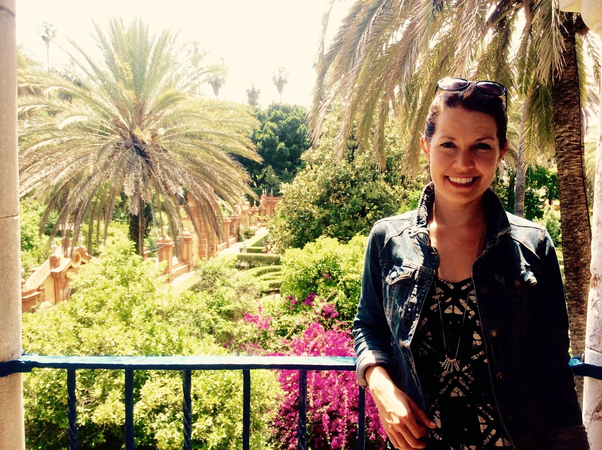 Enjoying the royal palace in Sevilla