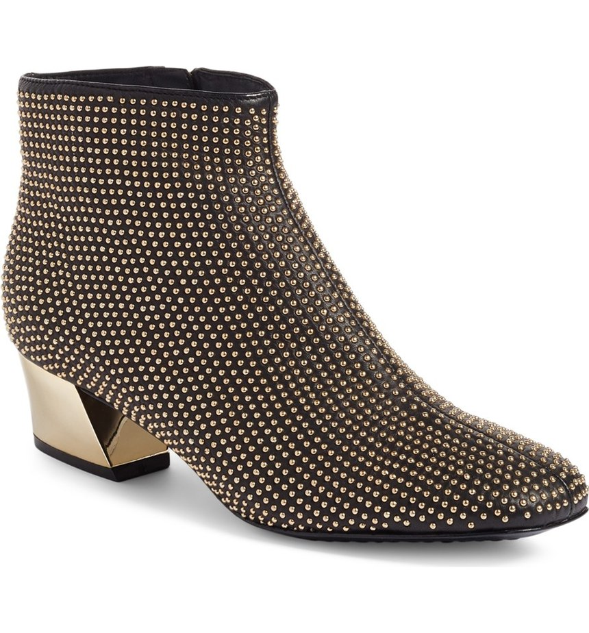 Alice + Olivia Paxton Studded Booties, $295