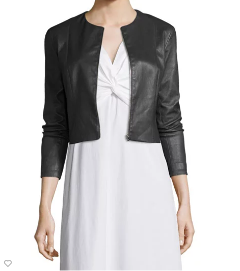 The Row Stanta Cropped Leather JAcket