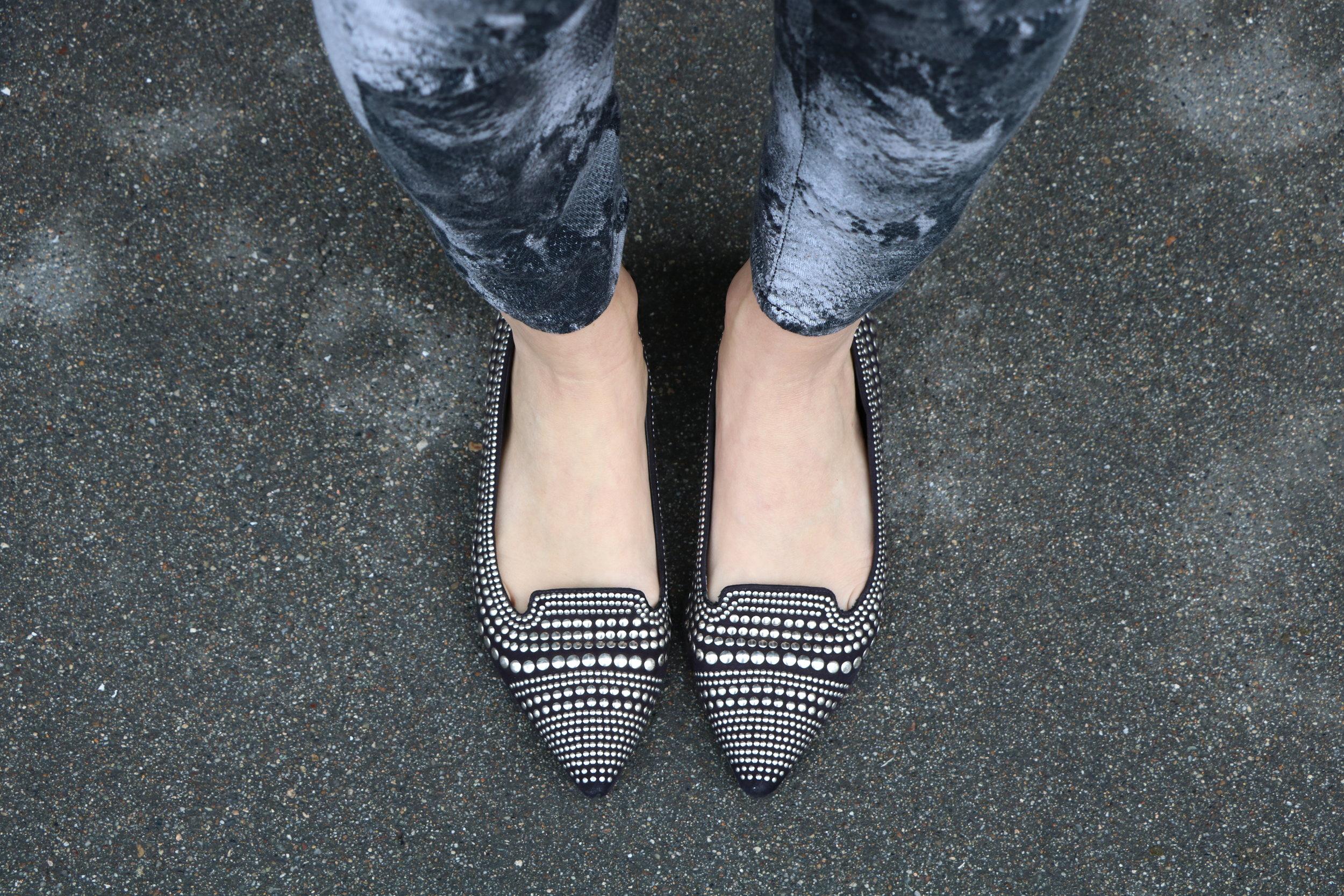 Enzo-Anglioni-Stud-Flat-Shoes