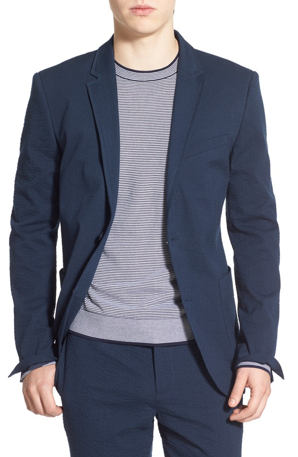 Pengiun Stretch Seersucker Jacket, $225