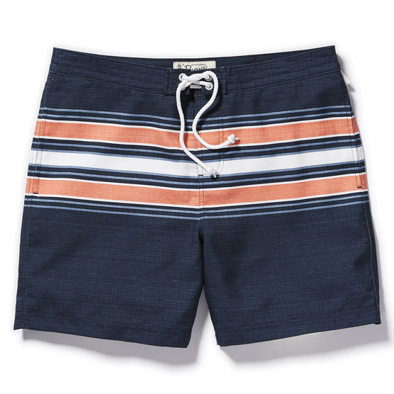 Penguin striped swim trunks, $79