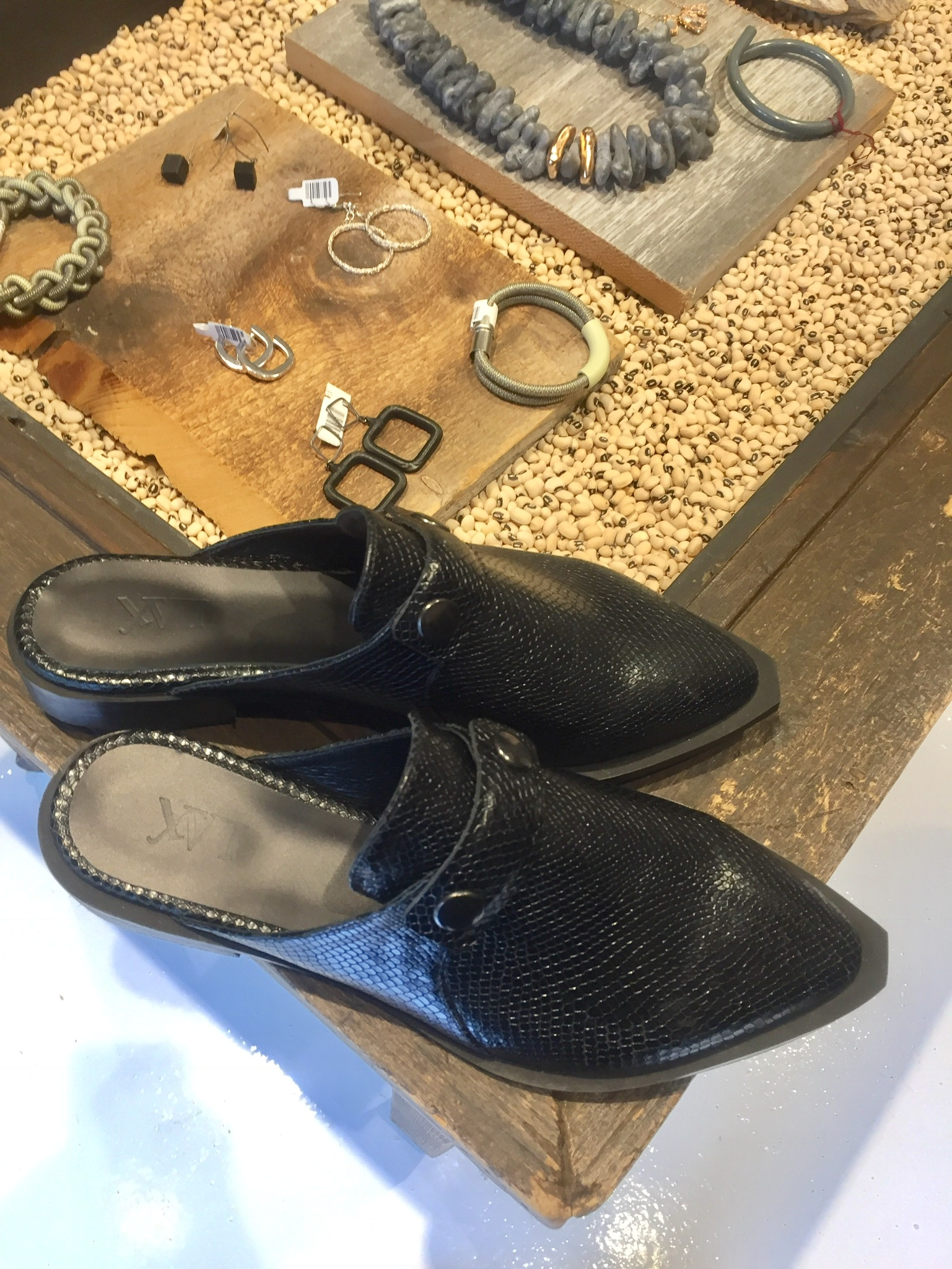 Textured Mules at Ruti on Fillmore Street