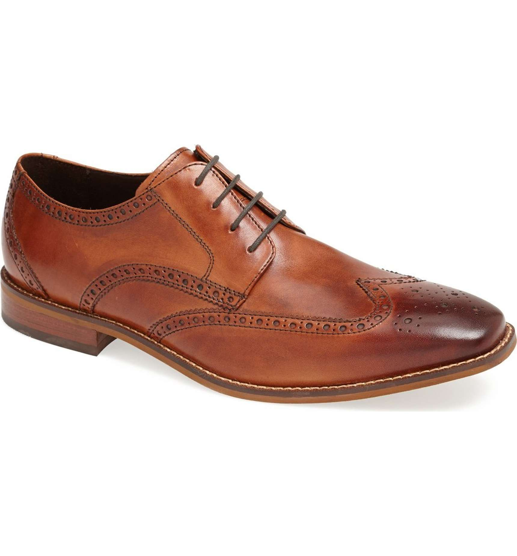 STYLE STEAL:  Florsheim 'Castellano' Wingtip In Saddle Tan, $99.95  (on sale)
