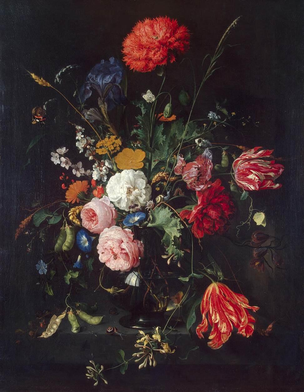Jan davidsz. de heem,  Flowers in a Vase