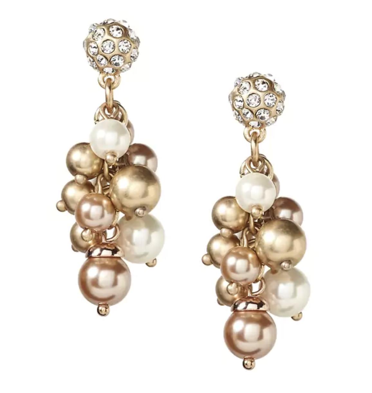 Blush Pearl Earrings $48