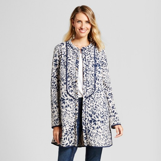 Long Leaf Printed Coat $74.99