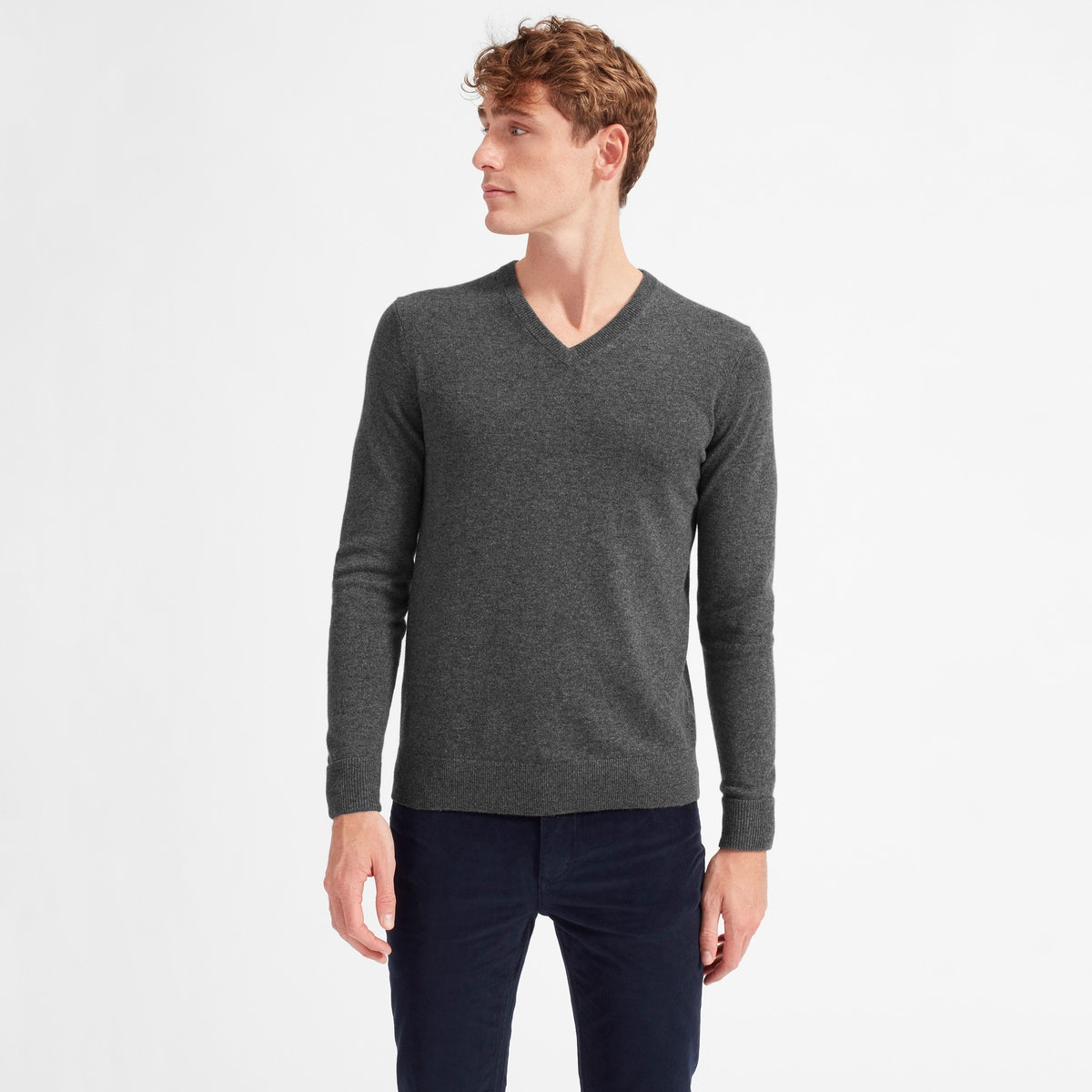 Everlane cashmere v-neck sweater, $100