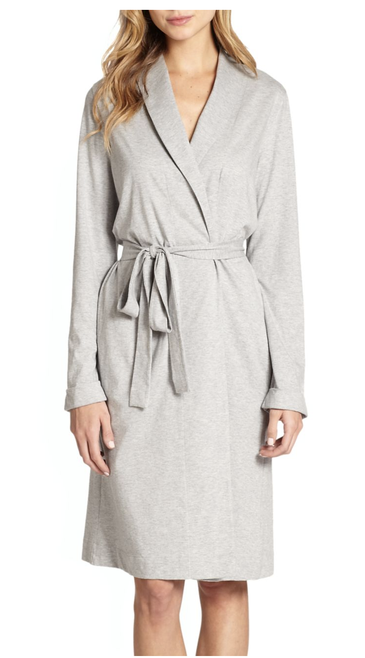 Hanro Melange Wrap Robe $214