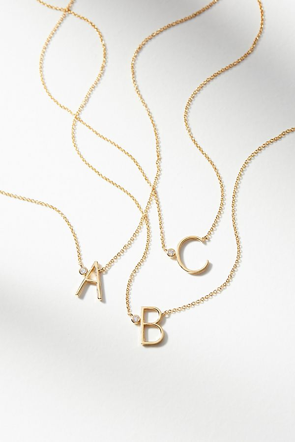 Anthropologie Monogram Necklace, $38