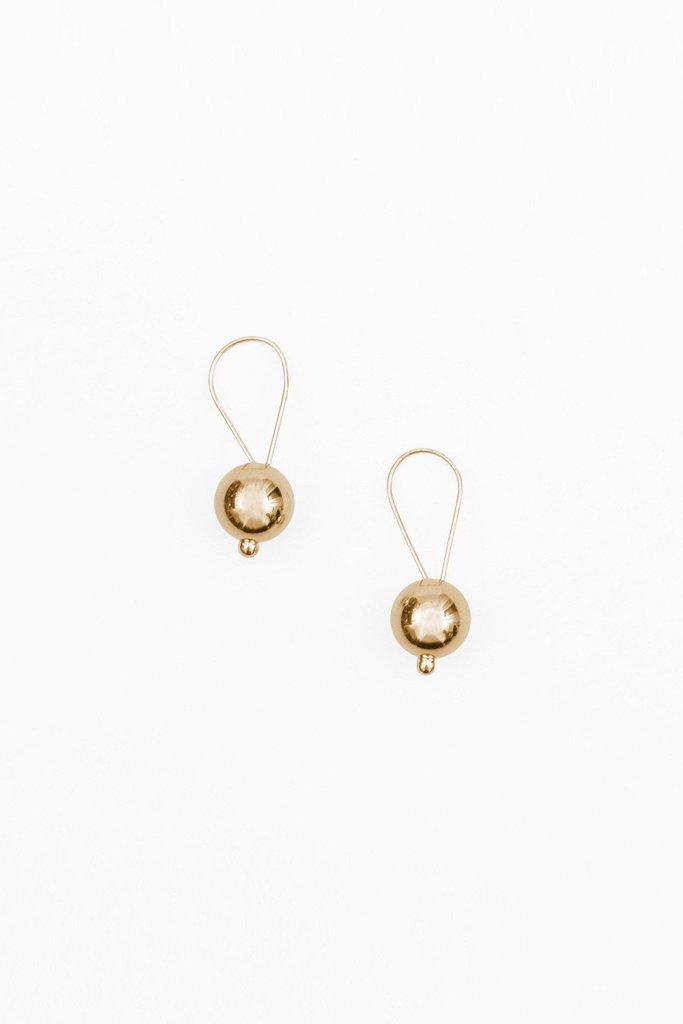 14K Gold Looped Drop Earrings $142