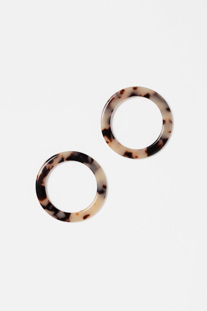 Isla Side Hoop Earrings $38