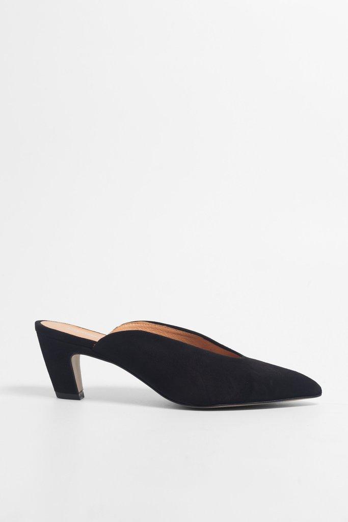 Per Suede Mule (Black) $190