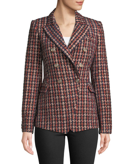 Camila and Marc Tilda Tweed Blazer in Plaid