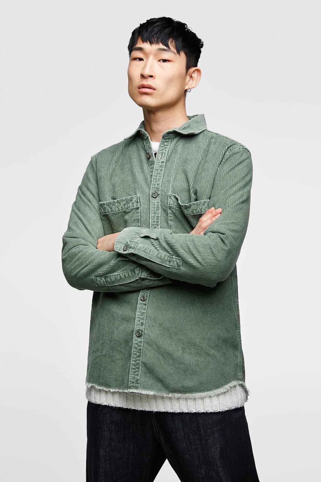 Zara CORDUROY SHIRT DETAILS $49.90