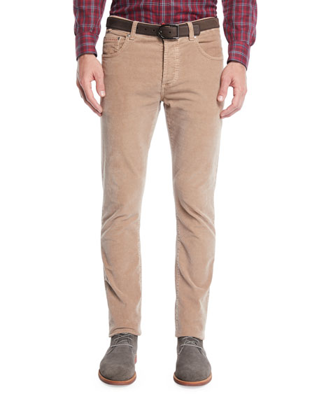 Isaia Men's Straight-Leg 5-Pocket Corduroy Pants $450