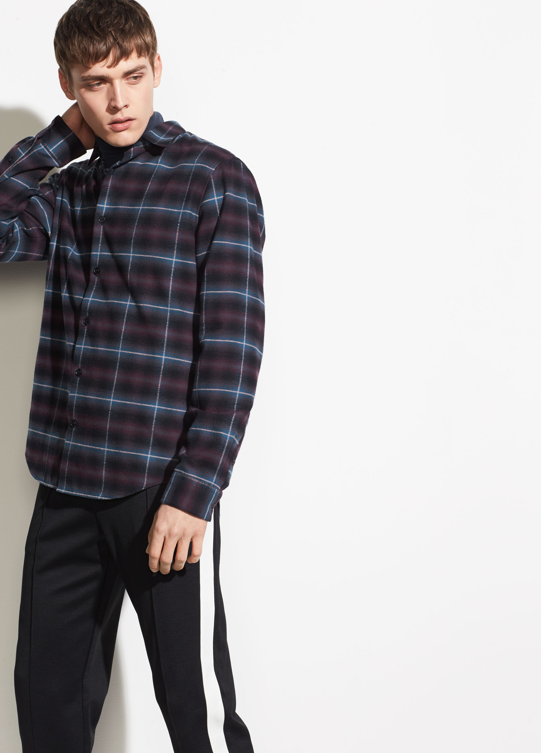 Vince. Shadow Plaid Flannel Shirt, $195