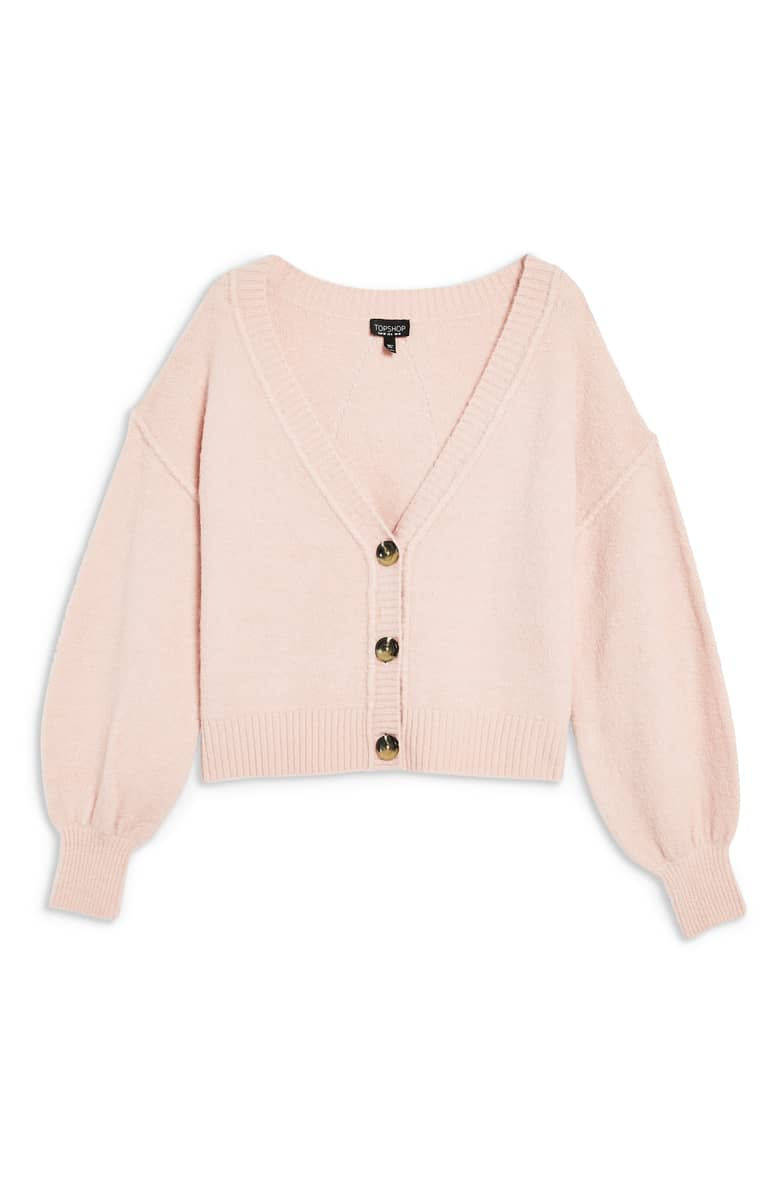 Top Shop Horn Button Crop Cardigan, $48