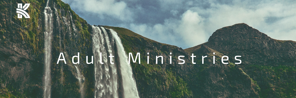 The Kirk adult ministries waterfall image
