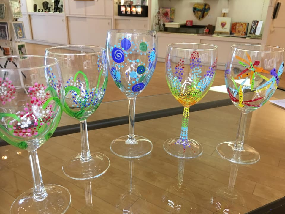 Painted Glasses by Member Gay Lynn Saunders