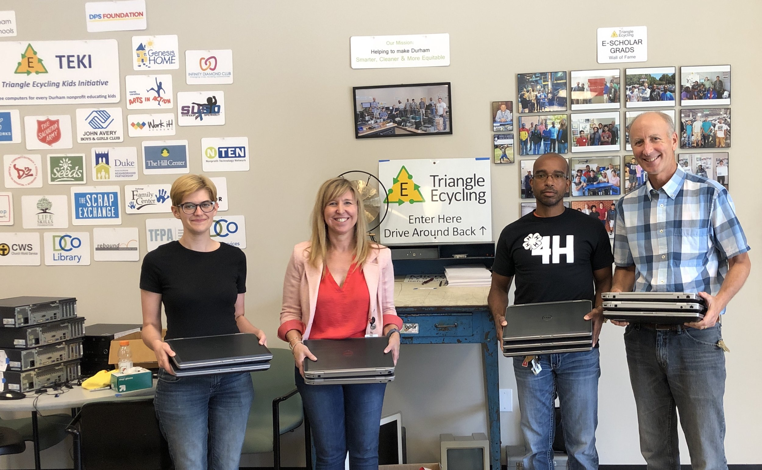 Laptops Heading Off to Durham 4-H Coding Camp