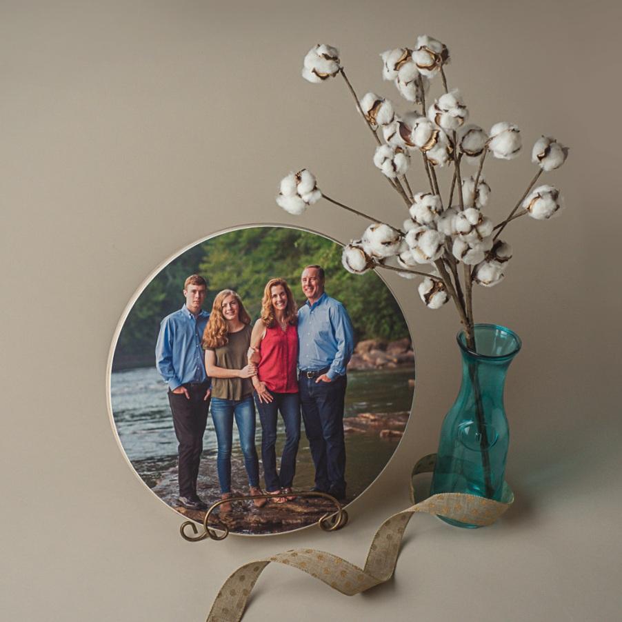 Cumming Family Photographer Wood Block Print