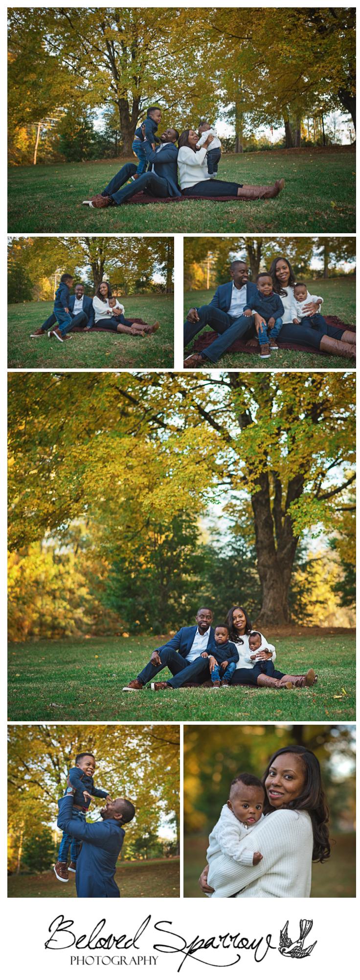 Fall family picture location in Alpharetta City Hall