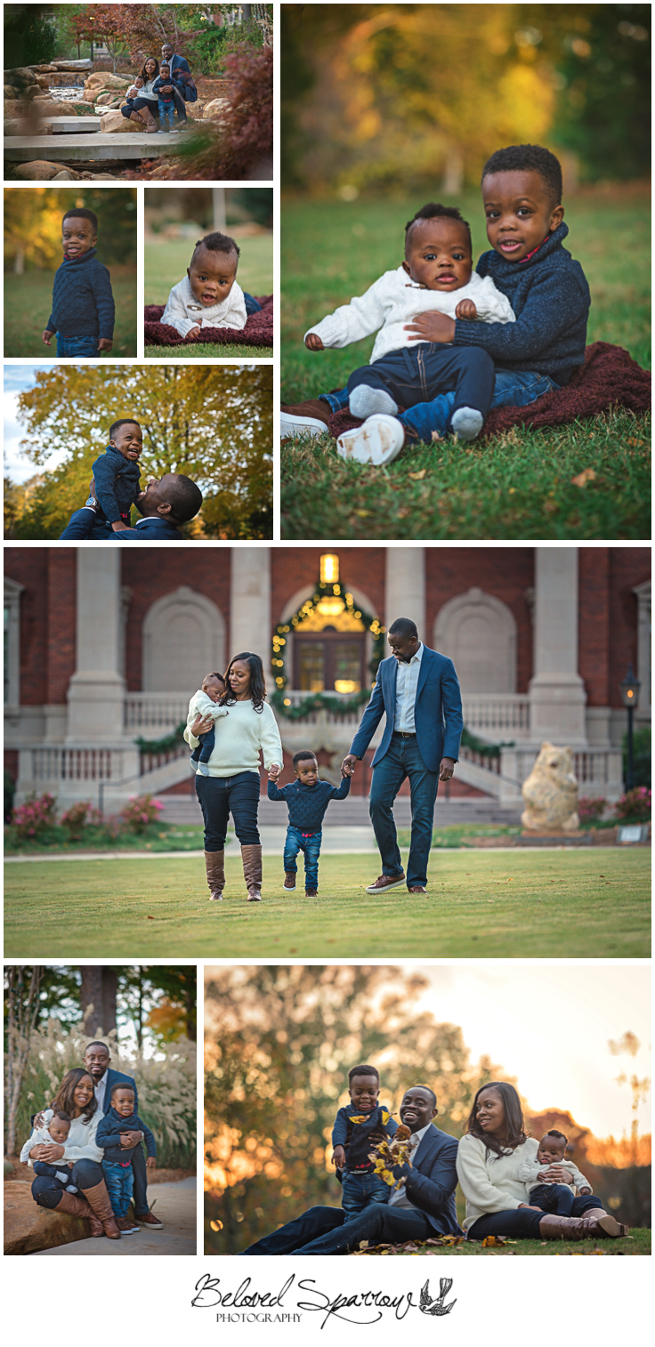 Location for fall family pictures in Alpharetta City Hall