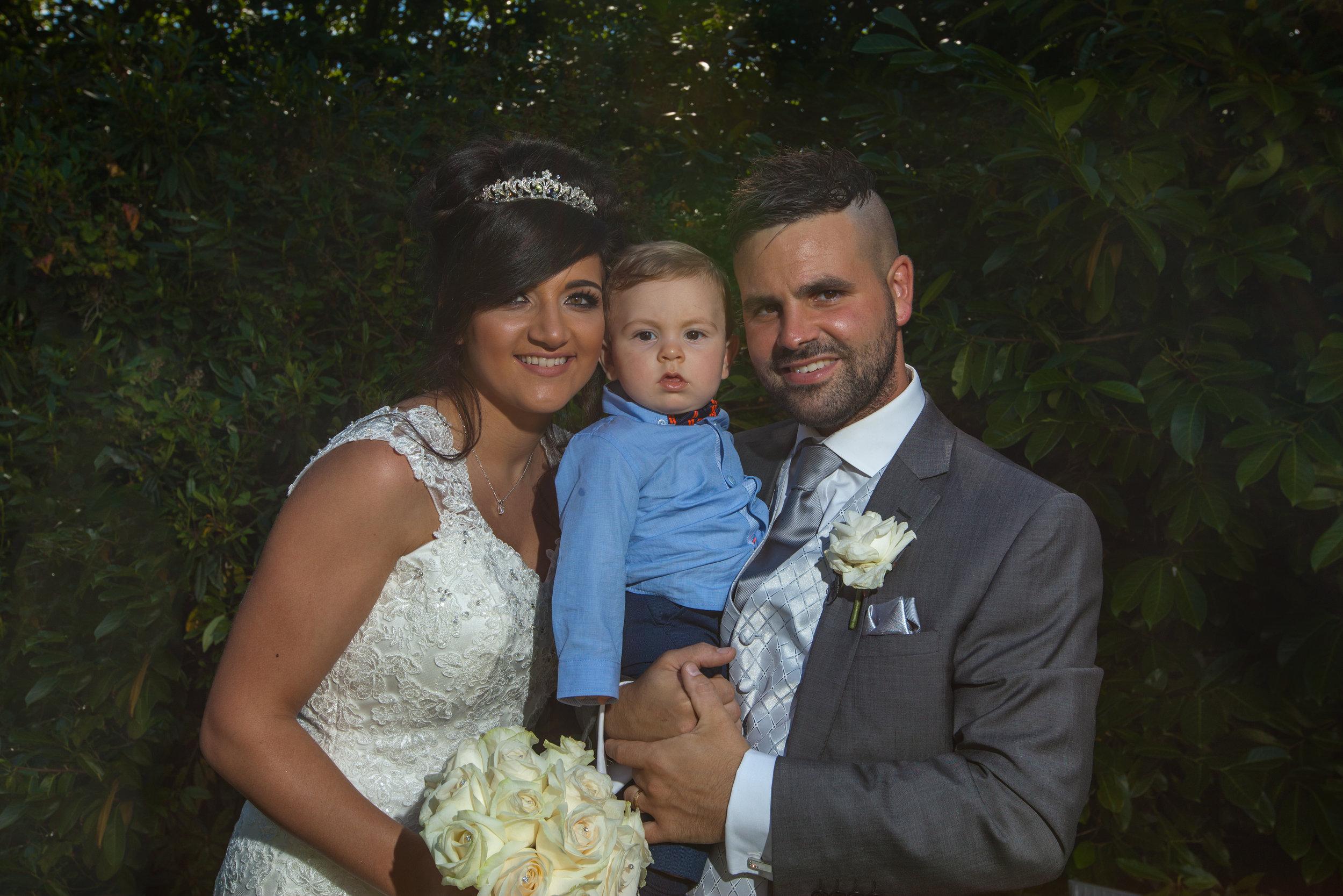 wedding photo of bride and groom in wrexham