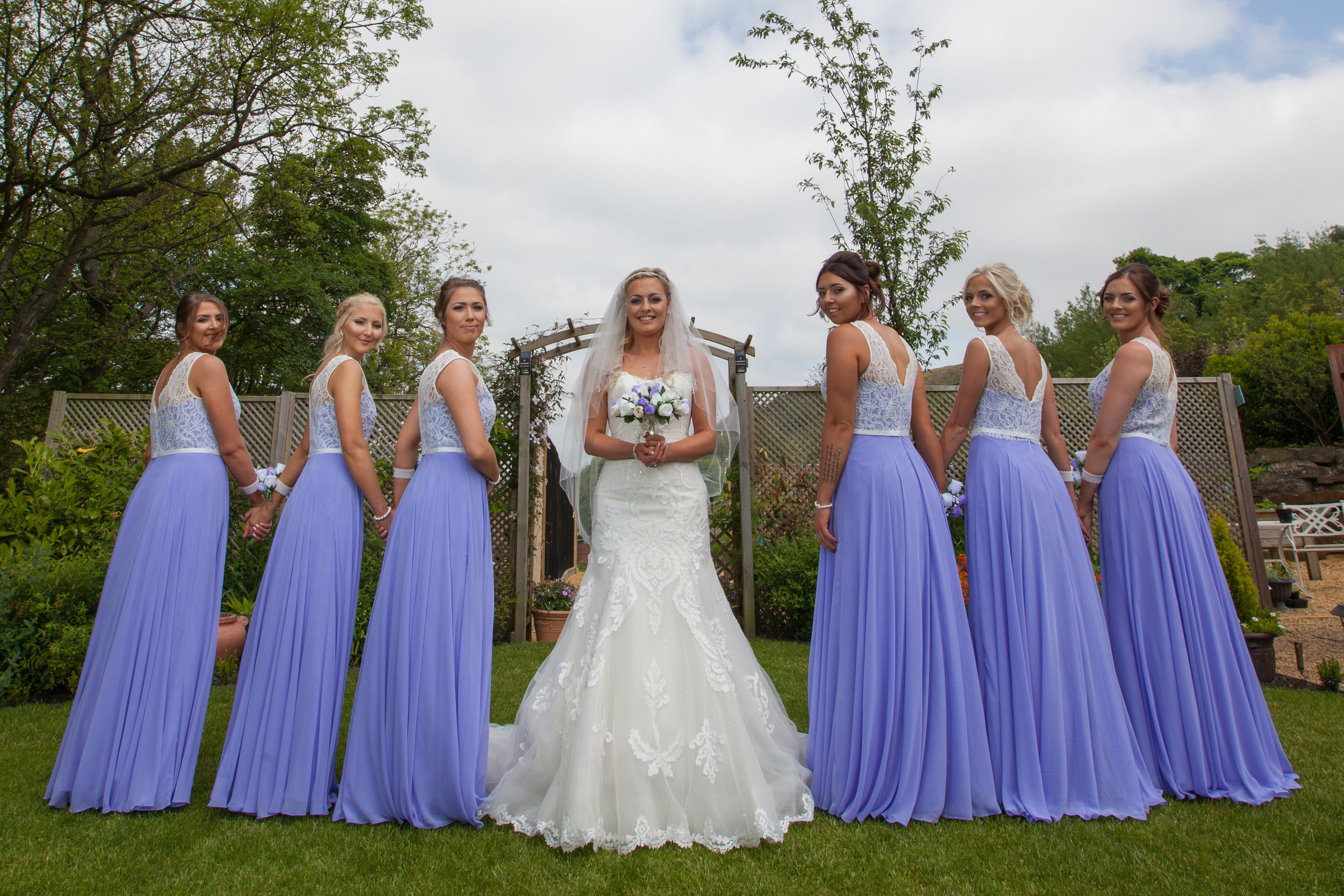 Bride and Bridesmaids at Bridal Preparation
