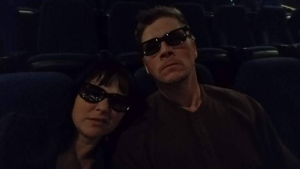 a trip to see star wars in 3D with this guy that i love...