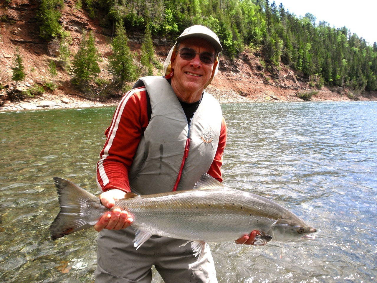 Texan, Allen Barron with his first Atlantic salmon, way to go Allen.