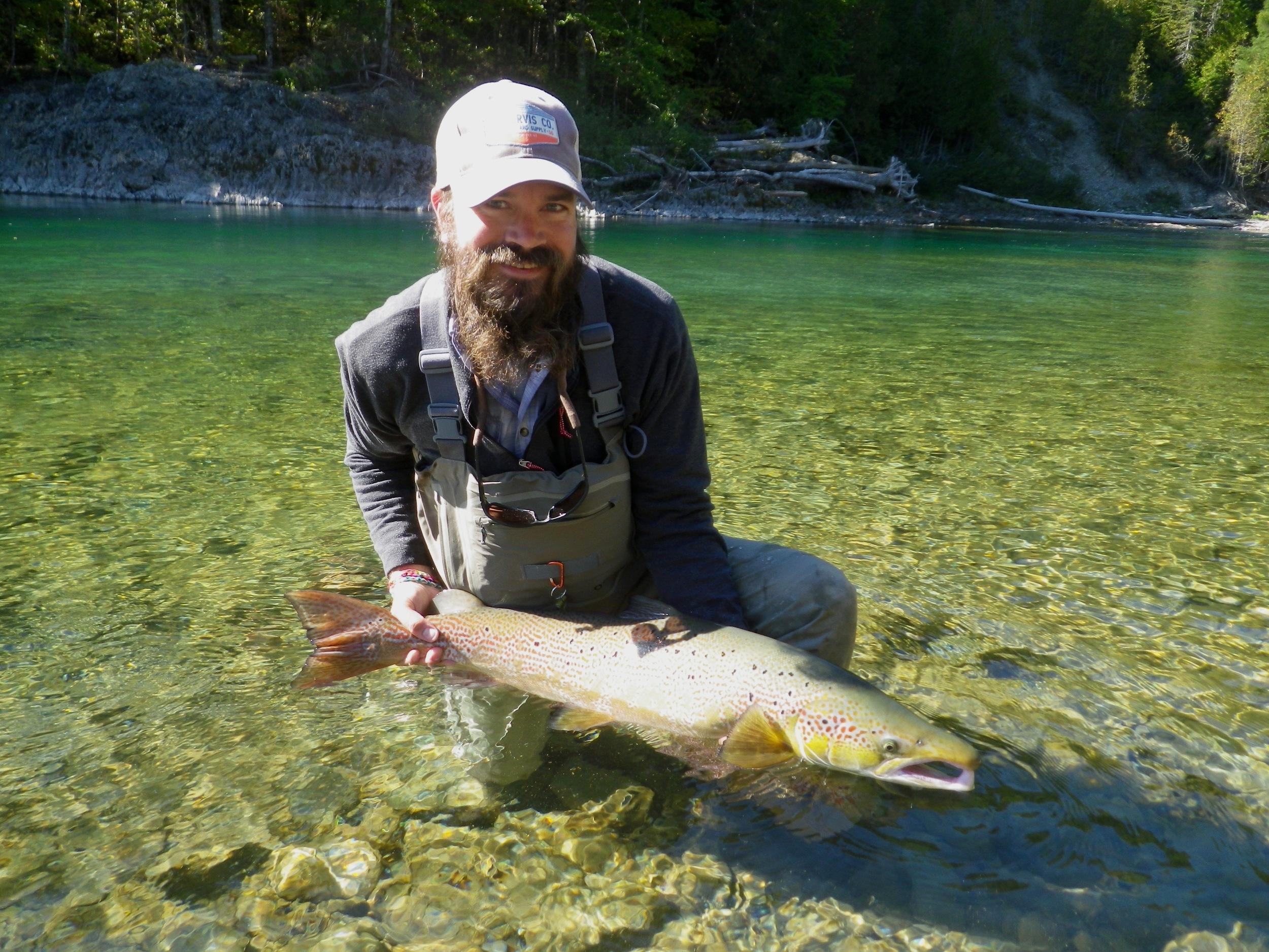 Dan Davala from Orvis with his first Atlantic salmon, Congratulations dan!