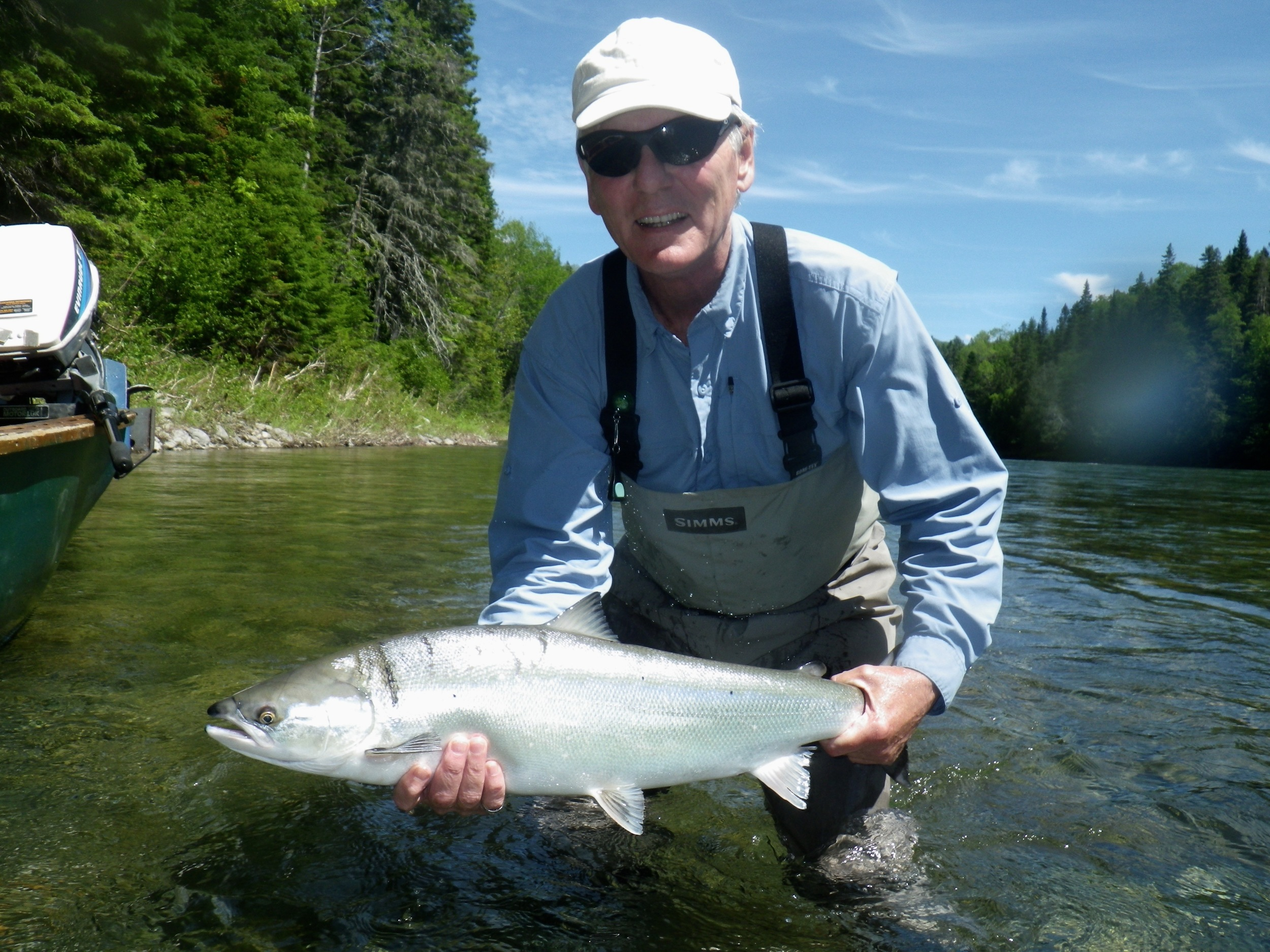 Rick Ormstom with his first salmon of the year, way to go Rick!