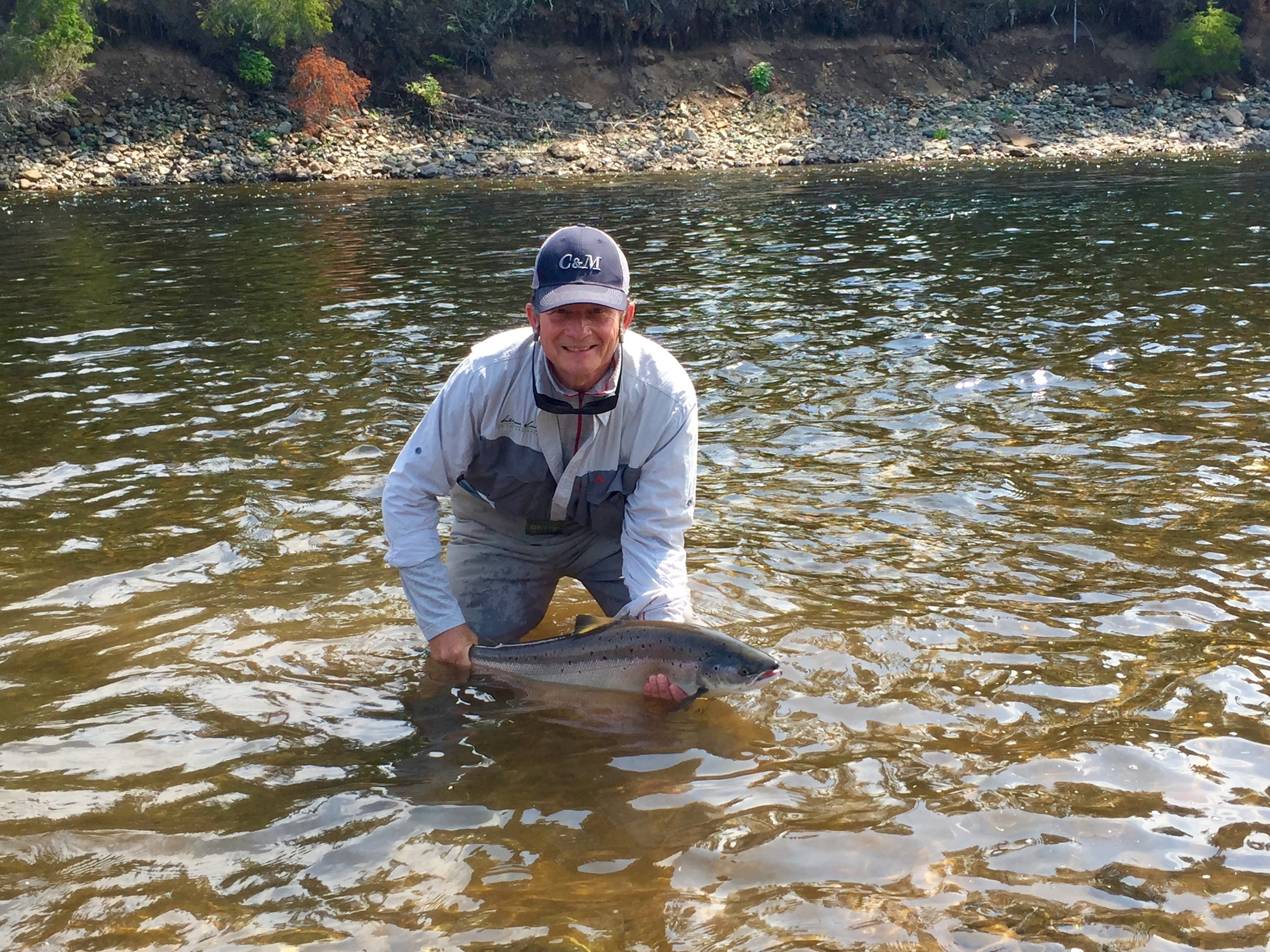 Jack Gustafson lands this one on the Grand Cascapedia, congratulations Jack!