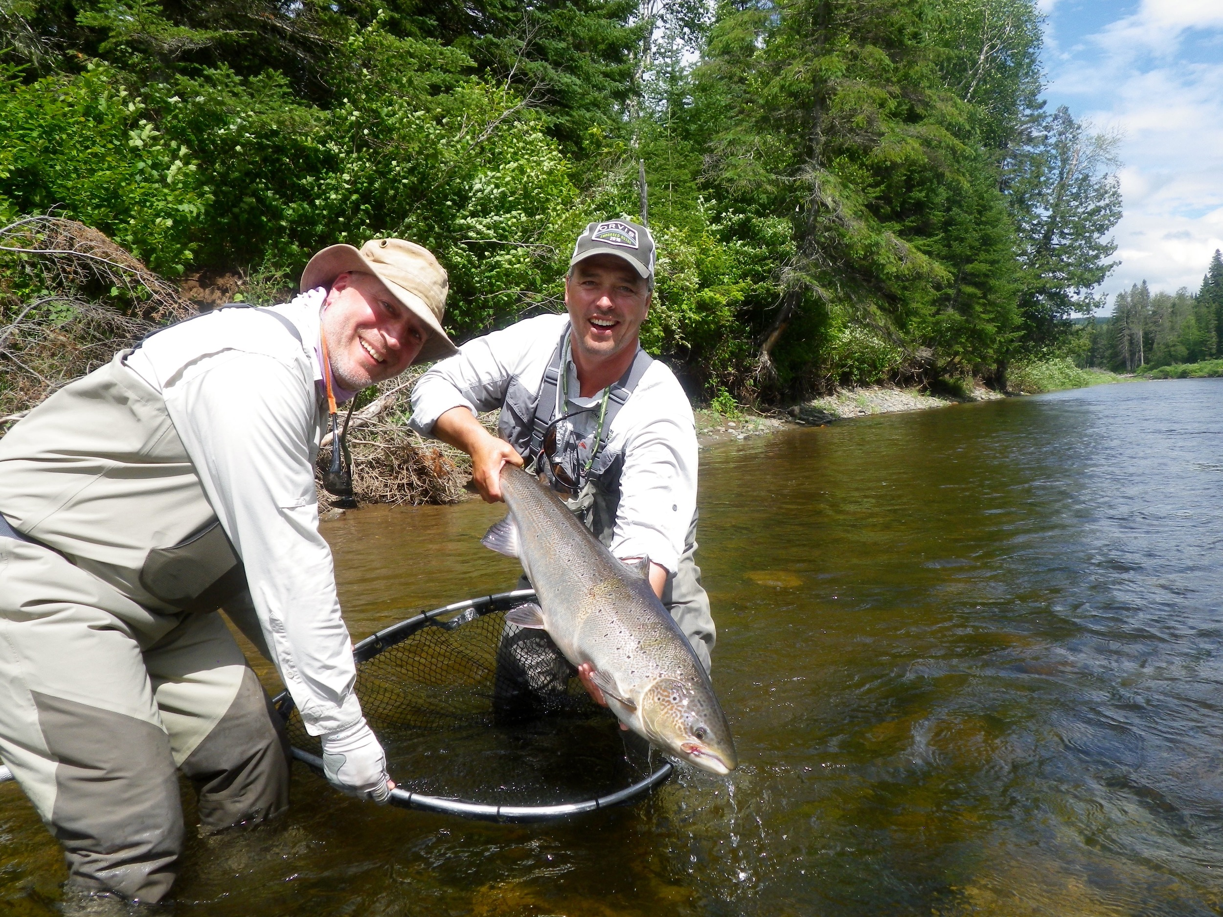 Mitchell Bellman Puts a nice one back on the Grand Cascapedia, Congratulations Mitchell!