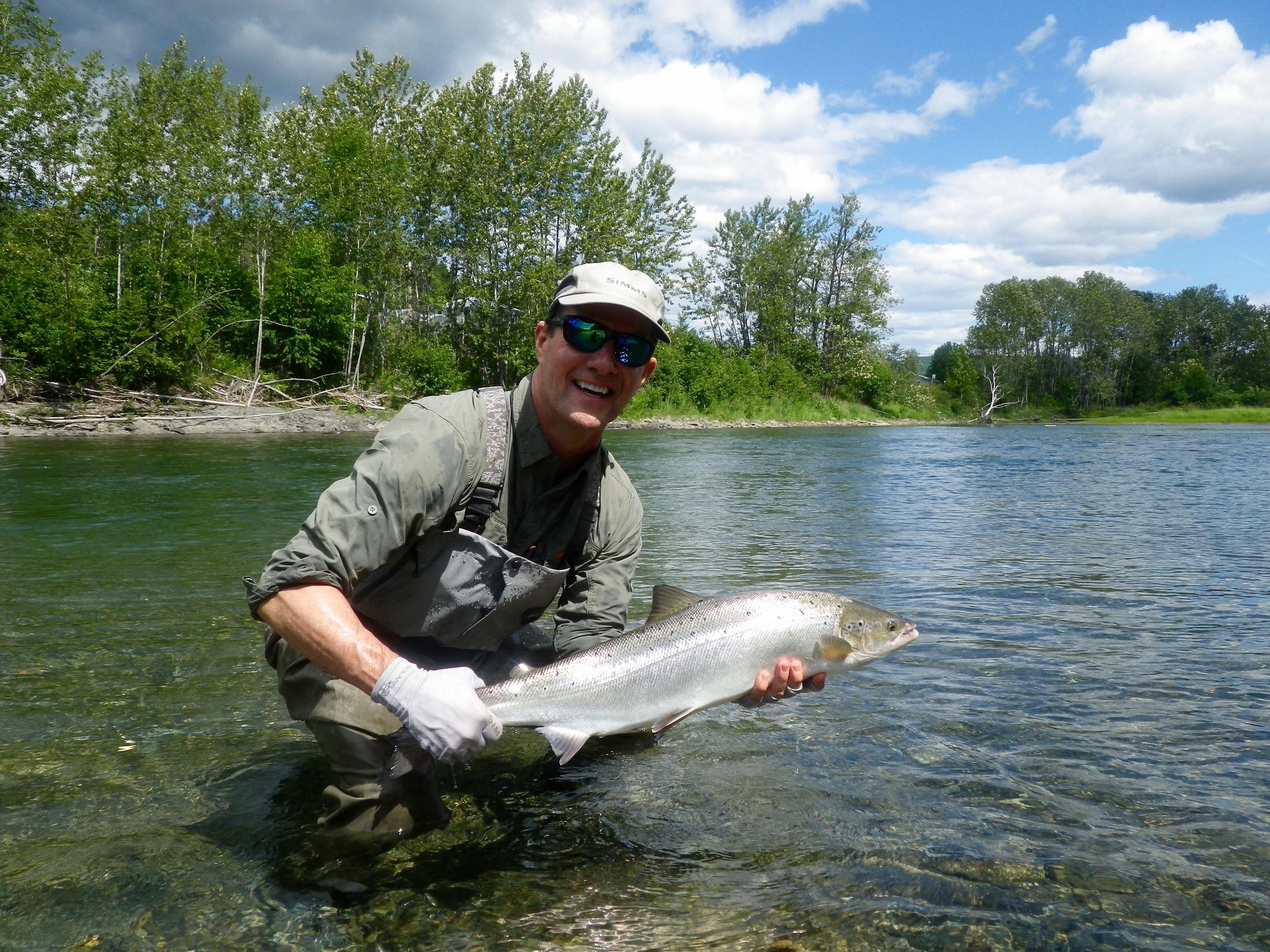 Jay Grinney lands his first Atlantic Salmon of 2016, nice fish Jay!