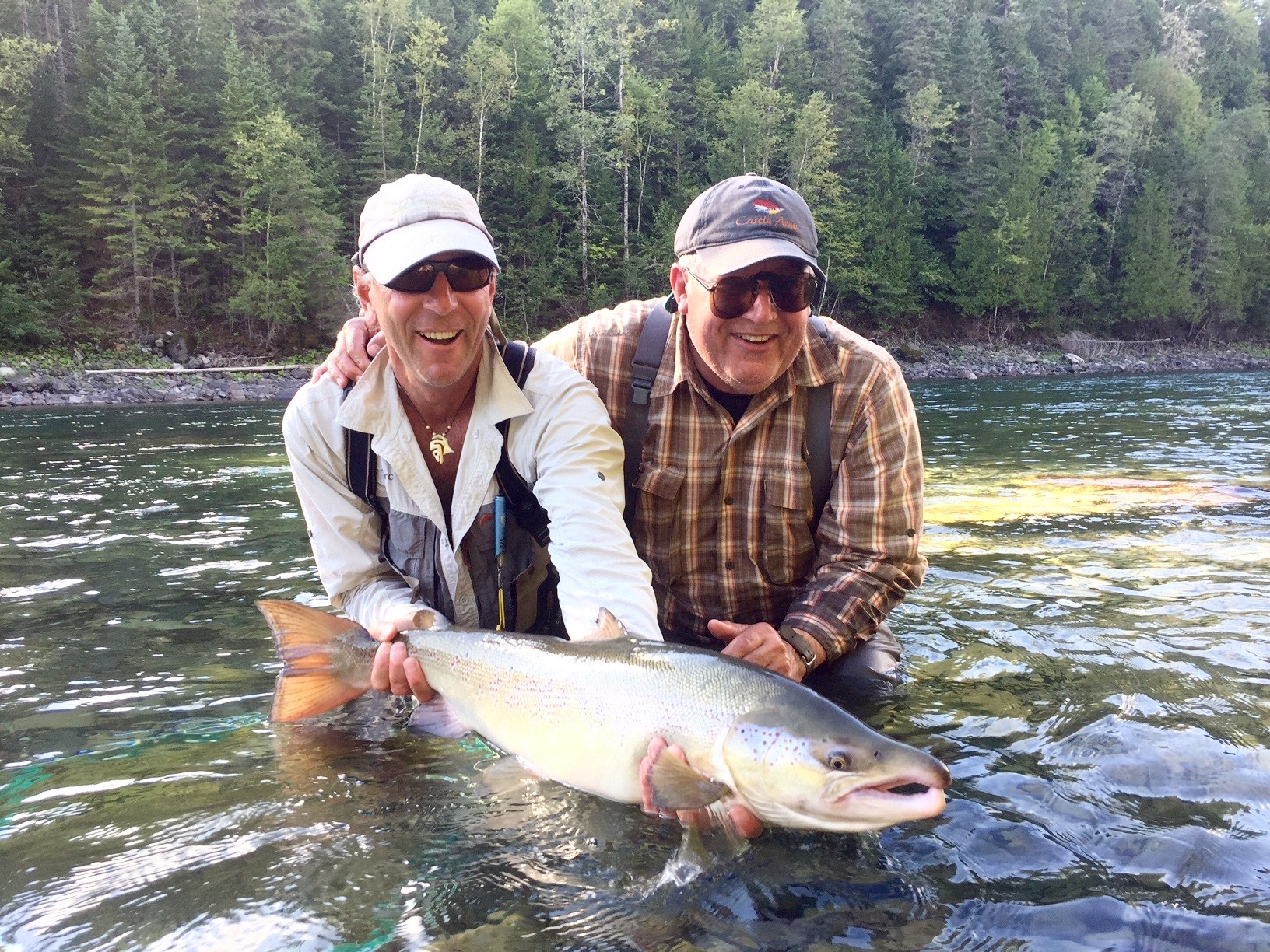 David Castleman (Right) with Camp Bonaventure guide Marc poirier, congratulations David!