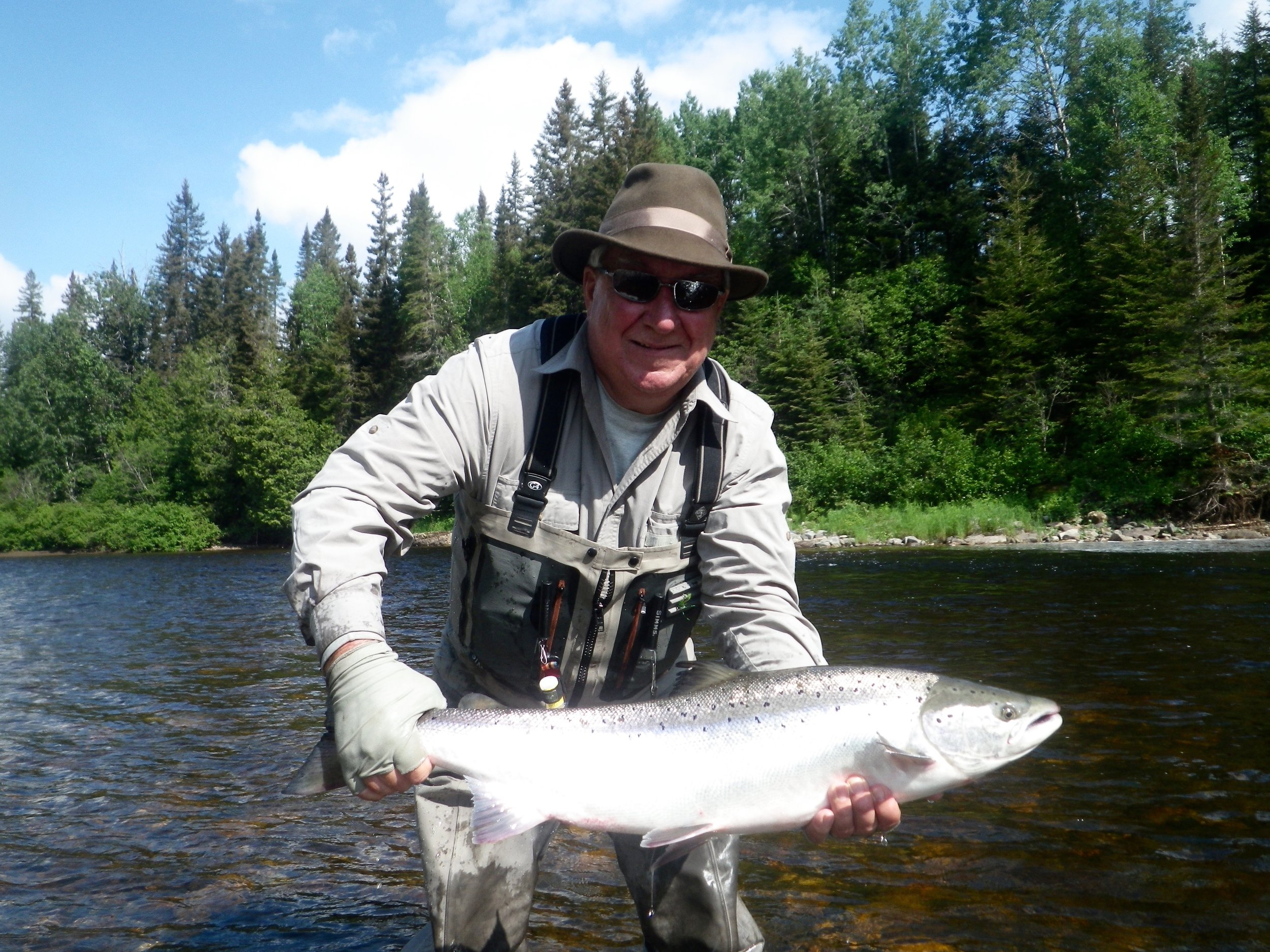 Fred Benere has been coming to Camp Bonaventure for many years, he sure knows how to catch them,Good start to the season Fred!