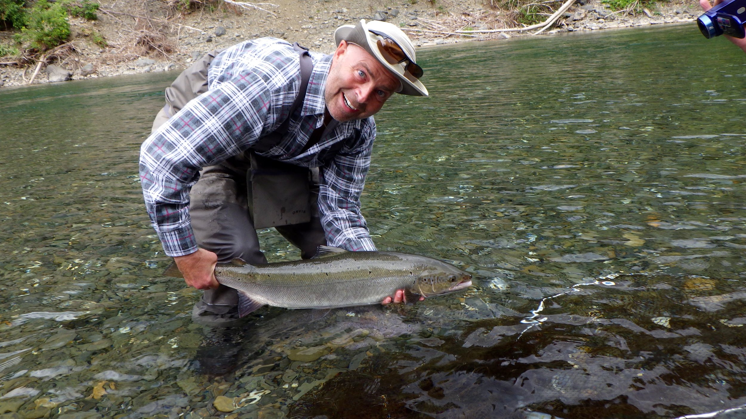 This was Richard Poulin's first time Atlantic salmon fishing, a fish to remember! Congratulations Richard