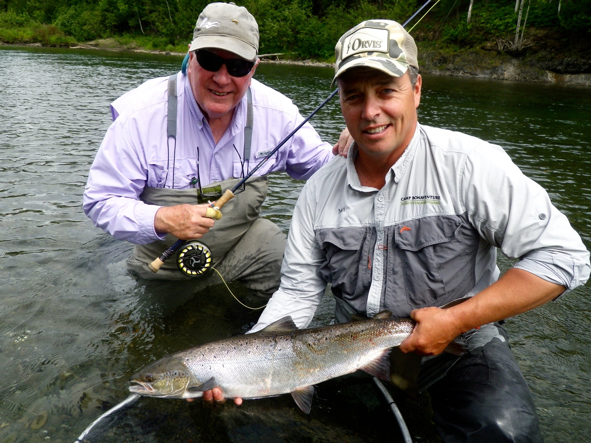 Keith  Williams (left) with Camp Bonaventure guide Matt Flowers, nice one Keith !