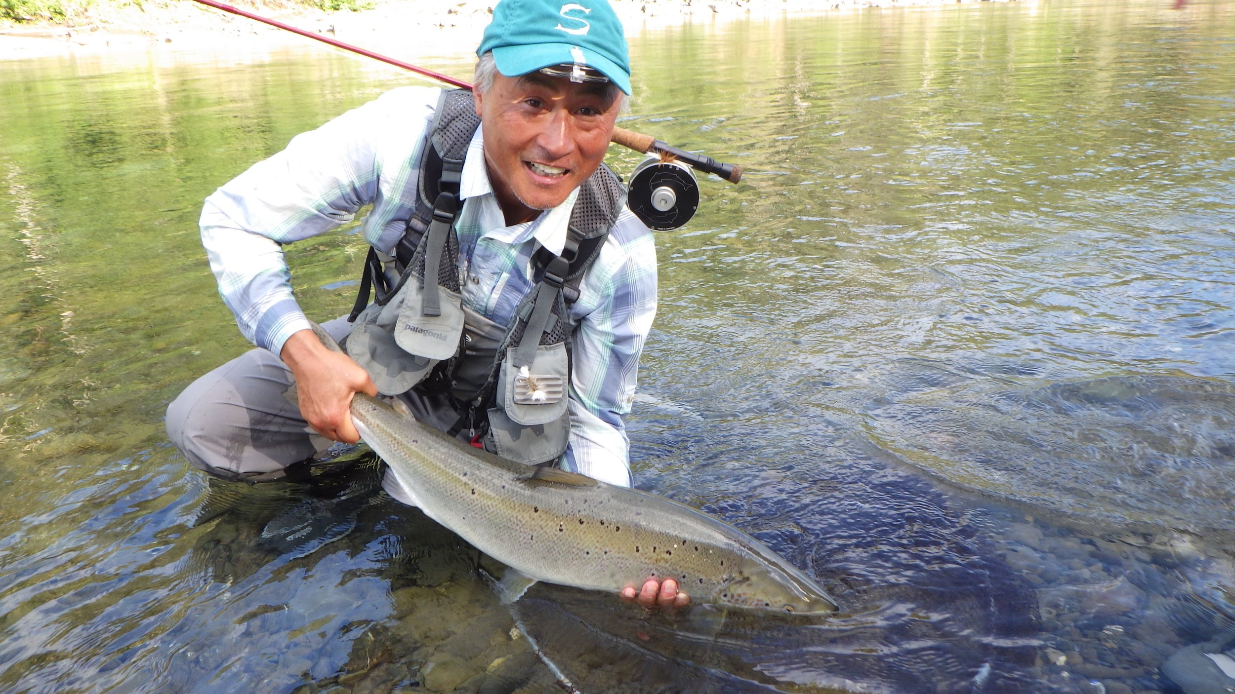 Camp Bonaventure regular Rick Koe sure knows how to catch them, congratulations Rick, see you next year!