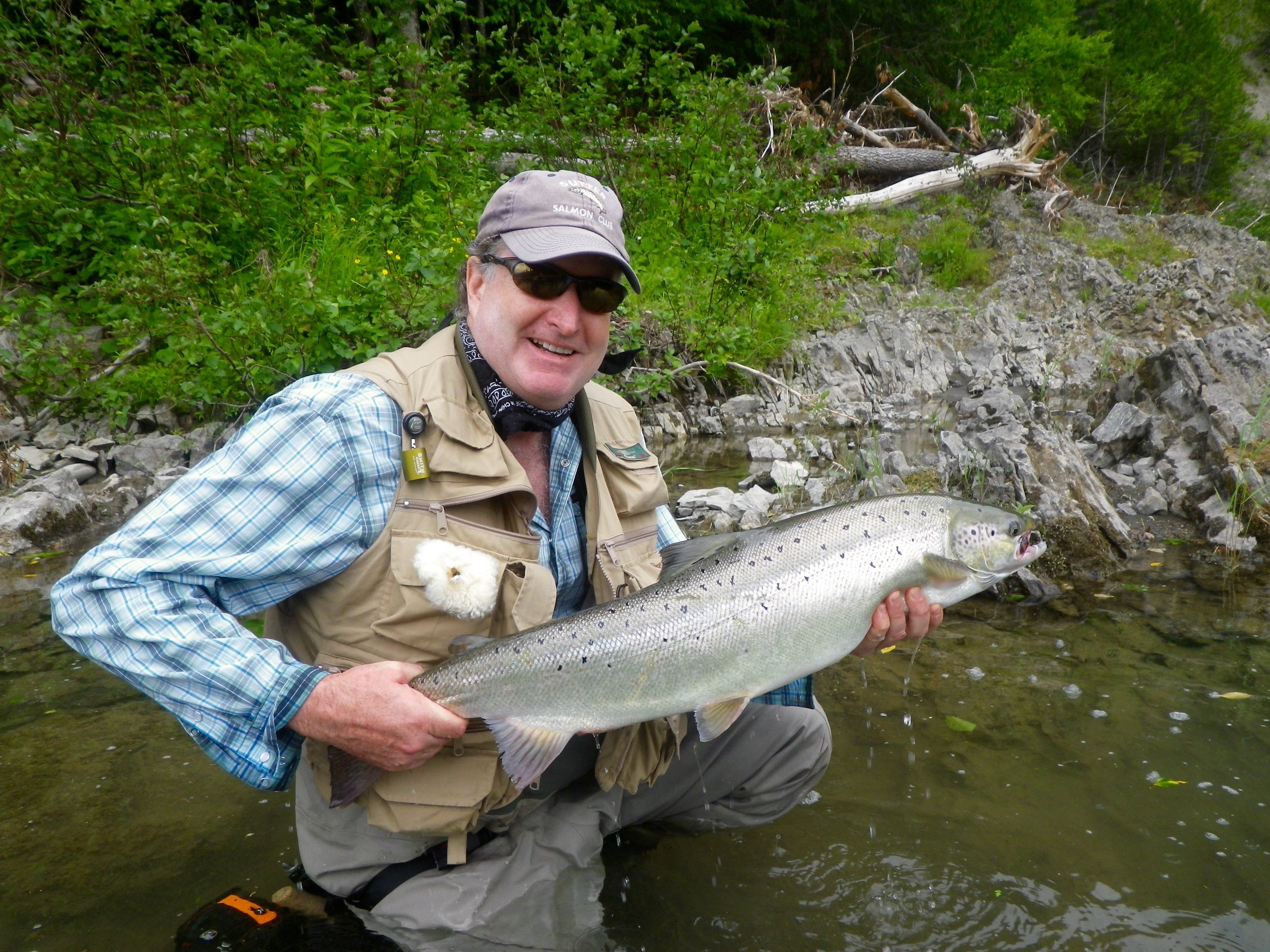 This was Eric Roberts first trip to Camp Bonaventure, He landed this nice one on a dry fly, congratulations, Eric!