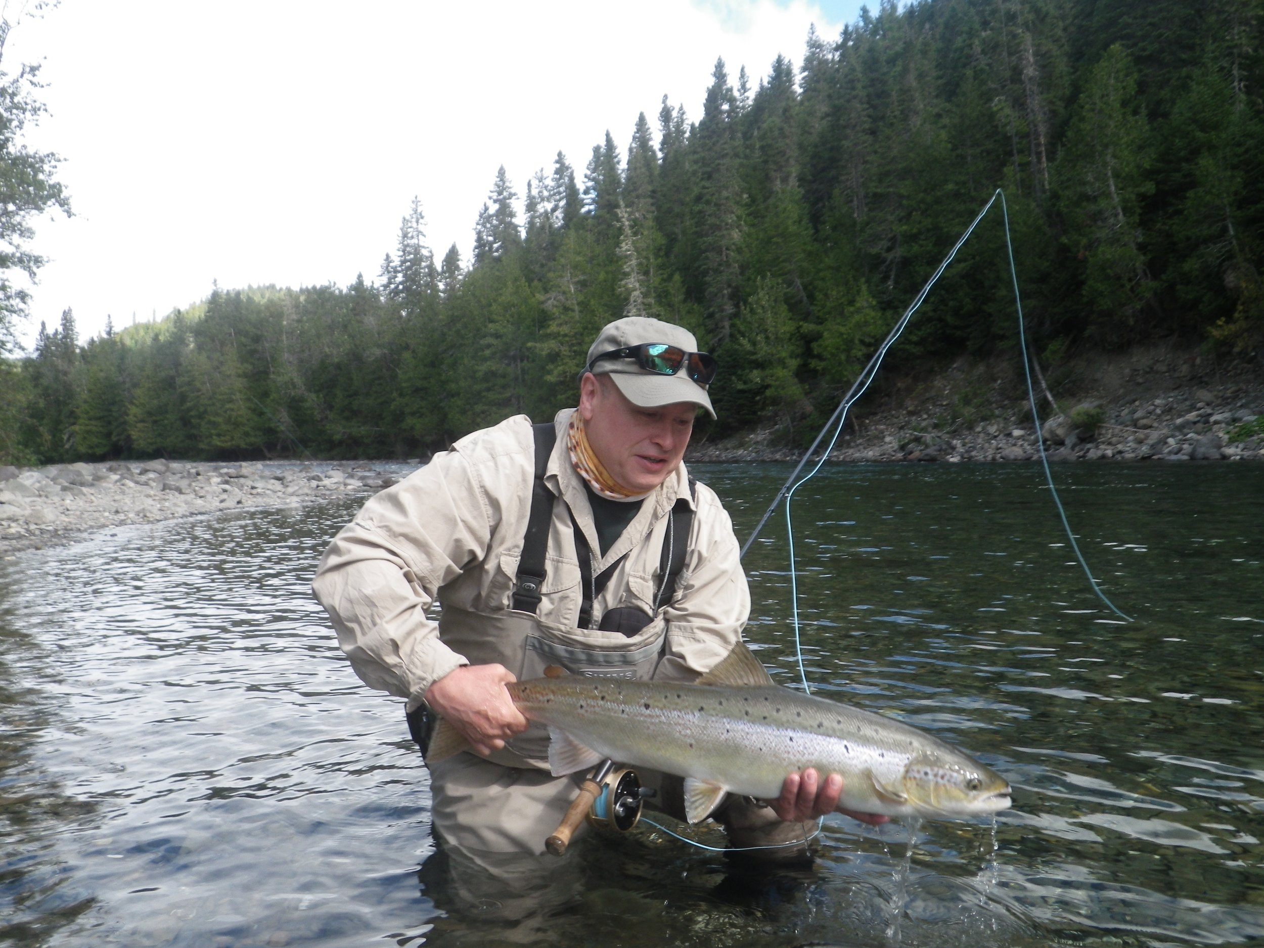 Tom Harkness has been a regular at Camp Bonaventure for over 20 years, here he is with a nice one from the Bonaventure,Congratulations Tom!