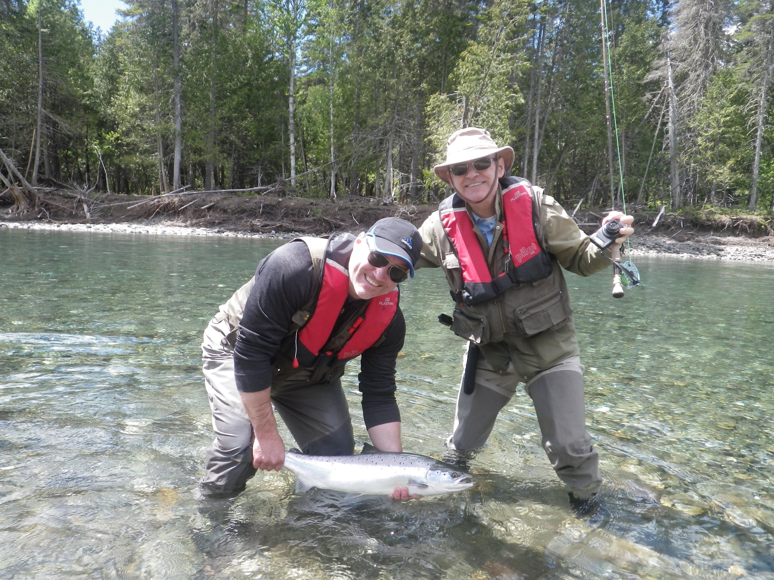 Craig Shannon with his first Bonaventure salmon, Congratulations Craig, may it be the first of many to come.