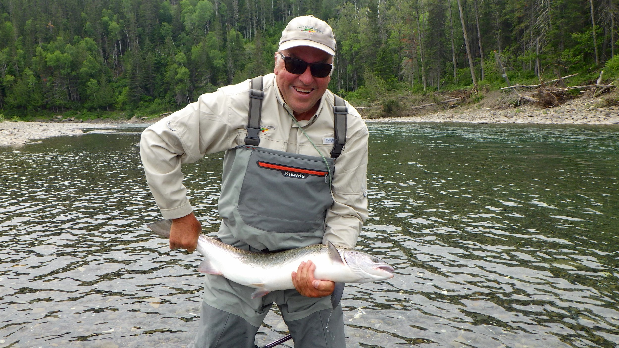 Scott Brown from the UK with his first Salmon from this side of the pond, nicely done Scott!