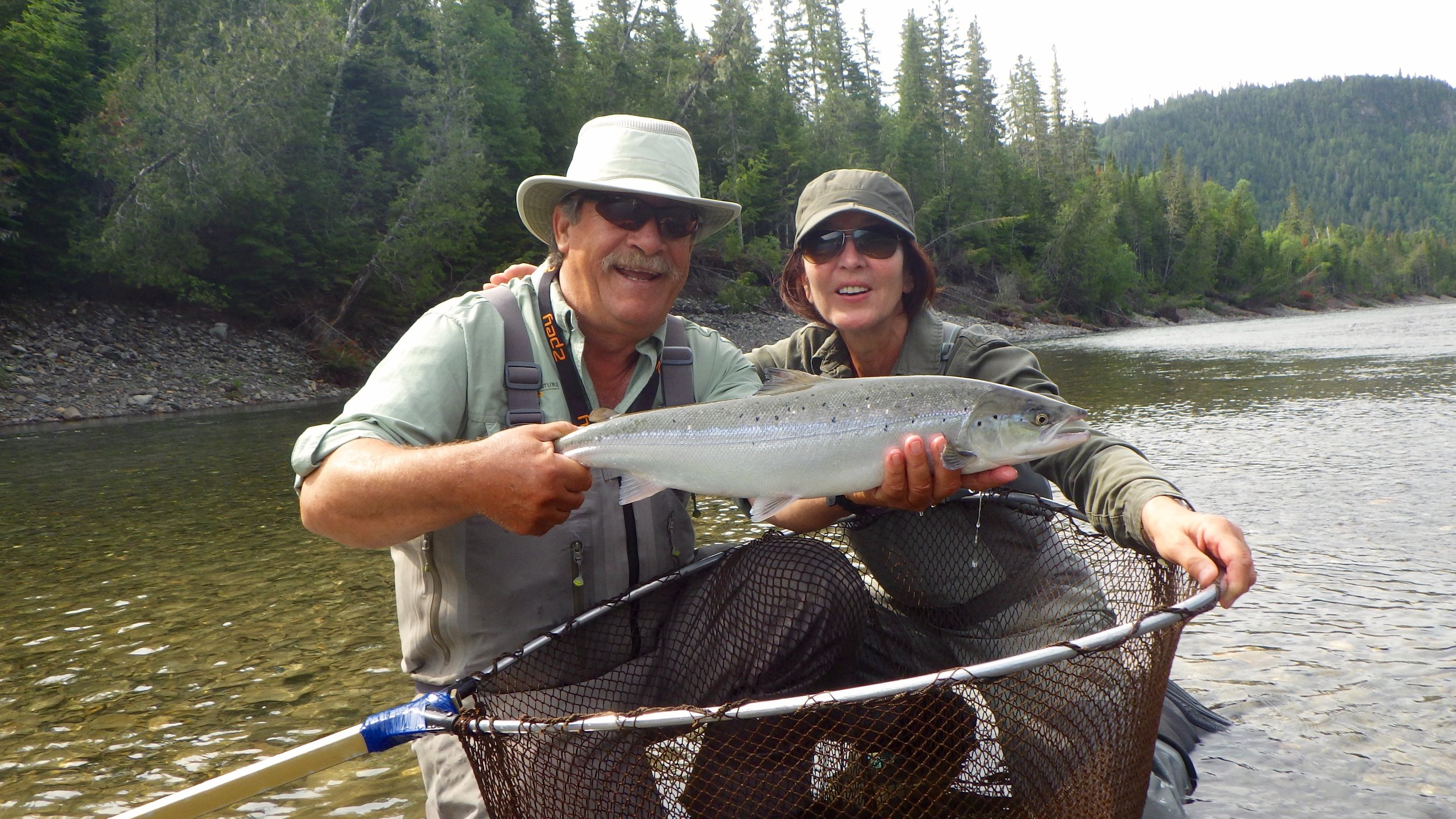 Francoise Reault landed this fine salmon on her first day out, congratulations Francoise!