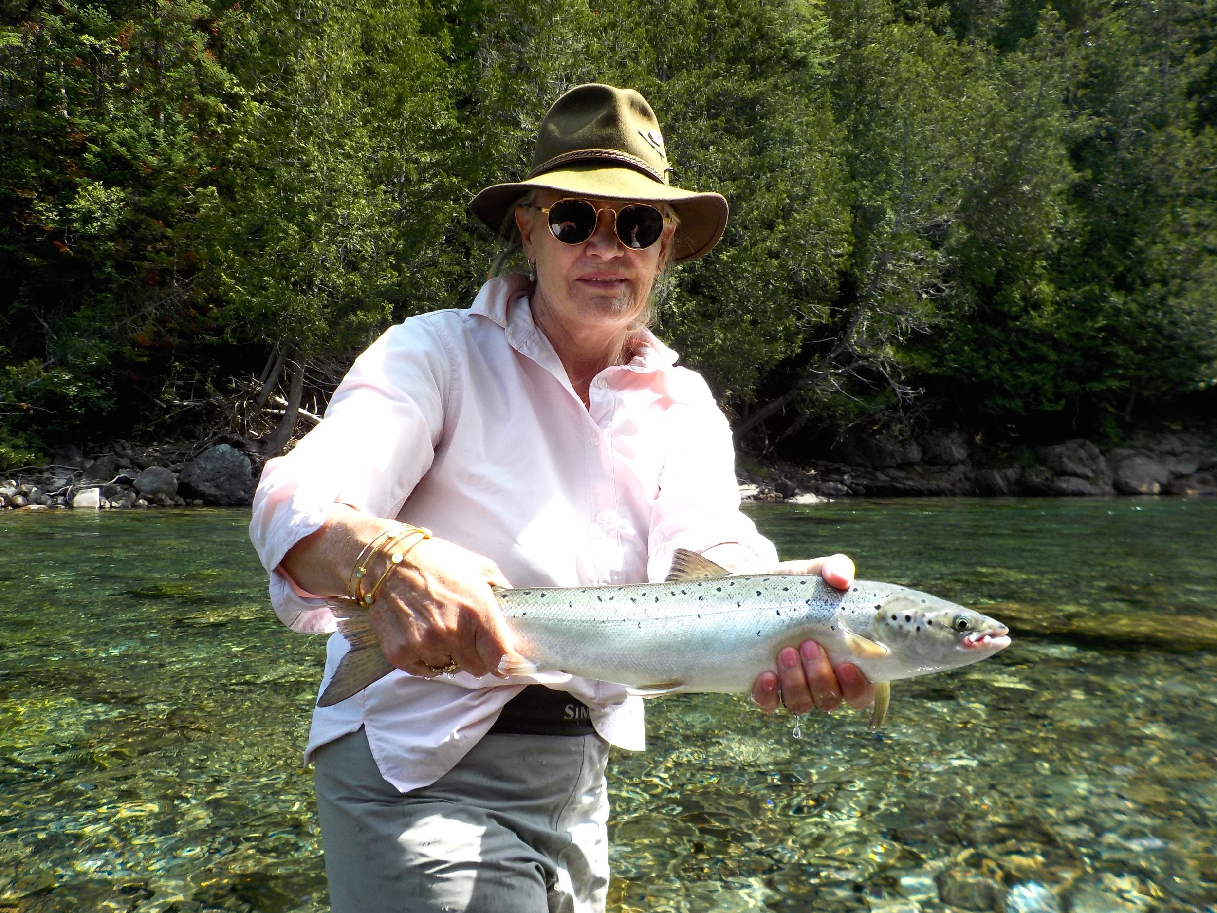 Isabelle Jewell has been coming to Camp Bonaventure for many years, she not only a good friend but a fine angler, congratulations Isabelle!